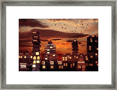 Sweet Cityscape  Framed Print by Floriana Barbu
