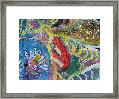 Sweet Closeview Of Floral Delights Framed Print by Anne-Elizabeth Whiteway