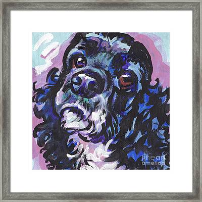 Sweet Cocker Framed Print by Lea S