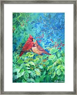 Sweet Contentment Framed Print by Lois Mountz