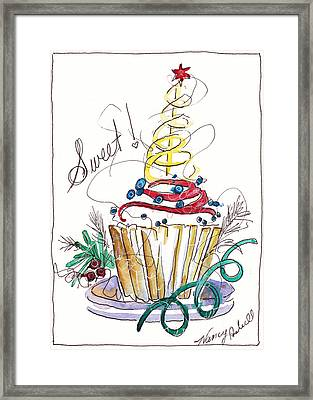 Sweet Cupcake Framed Print by Michele Hollister - for Nancy Asbell