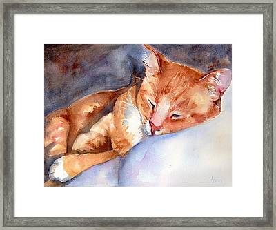 Sweet Deams Framed Print by Maria's Watercolor