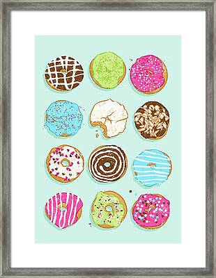 Sweet Donuts Framed Print by Evgenia Chuvardina
