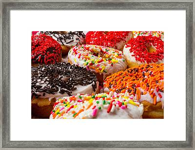 Sweet Donuts Framed Print by Garry Gay