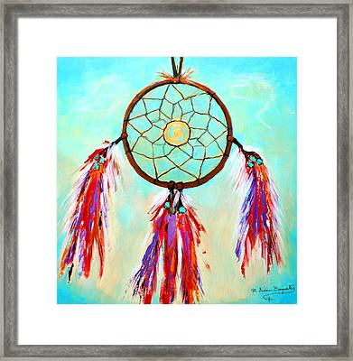 Sweet Dream Catcher Framed Print by M Diane Bonaparte