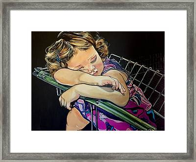 Sweet Dreams, Geo Framed Print
