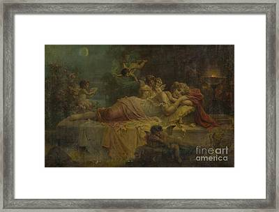 Sweet Dreams Framed Print by Hans Zatzka