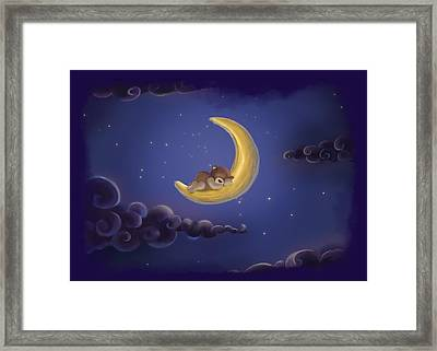 Framed Print featuring the drawing Sweet Dreams by Julia Art