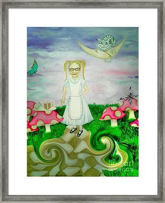 Sweet Dreams In Wonderland Framed Print by Wendy Wunstell