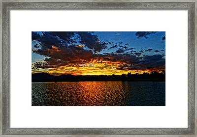 Framed Print featuring the photograph Sweet End Of Day by Eric Dee