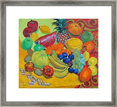 Sweet Fruits Framed Print by Vitali Komarov