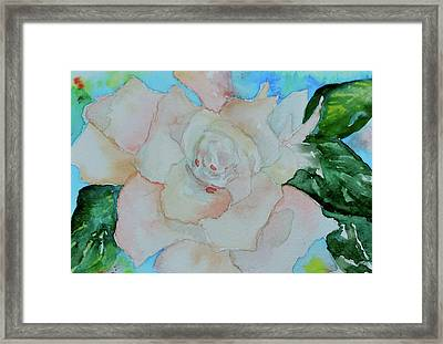 Framed Print featuring the painting Sweet Gardenia by Beverley Harper Tinsley