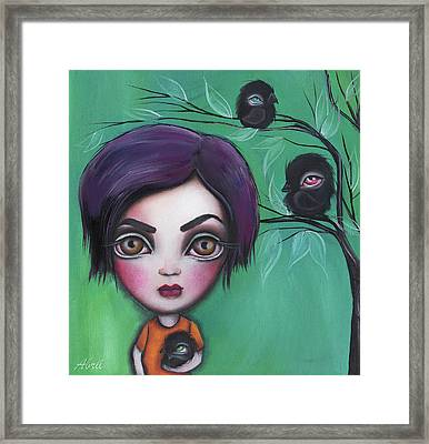 Sweet Girl Framed Print by Abril Andrade Griffith
