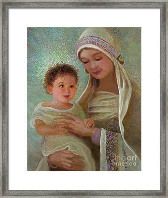 Sweet Grace Madonna And Child Framed Print by Nancy Lee Moran
