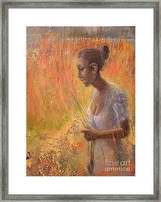Sweet Grass Framed Print by Gertrude Palmer