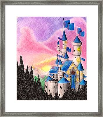 Sweet Heart Castle Framed Print by Scarlett Royal
