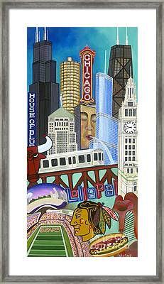 Framed Print featuring the painting Sweet Home Chicago by Carla Bank