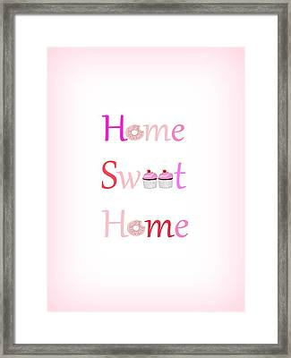 Sweet Home - Typography Framed Print