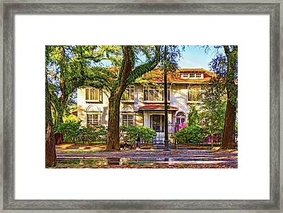 Sweet Home New Orleans - Walking The Dogs - Paint Framed Print