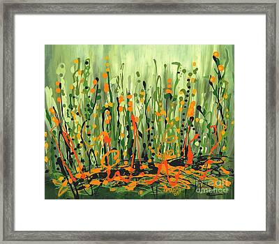 Framed Print featuring the painting Sweet Jammin' Peas by Holly Carmichael