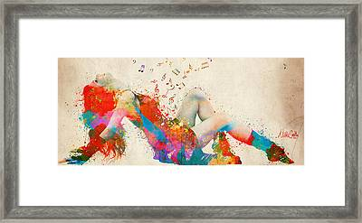 Sweet Jenny Bursting With Music Cropped Framed Print by Nikki Marie Smith