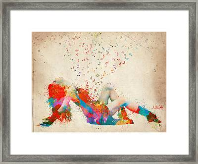 Sweet Jenny Bursting With Music Framed Print by Nikki Smith