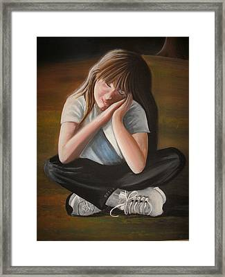 Sweet Jordan Framed Print by Scott Easom