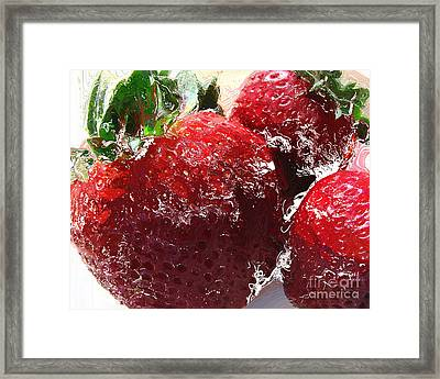 Sweet  Like A Chocolate Strawberry Framed Print by Colleen Kammerer