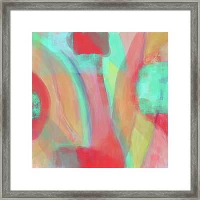 Framed Print featuring the digital art Sweet Little Abstract by Susan Stone