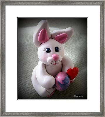 Sweet Little Bunny Framed Print by Trina Prenzi