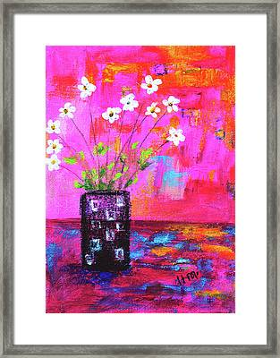 Sweet Little Flower Vase Framed Print