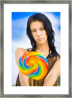 Sweet Lollipop Lady Framed Print by Jorgo Photography - Wall Art Gallery