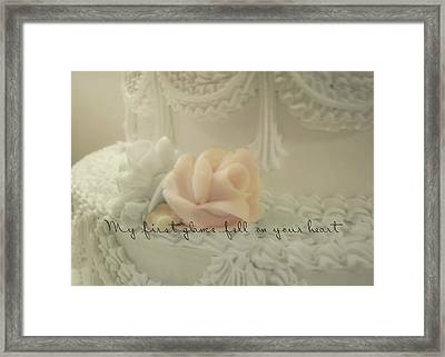 Sweet Love Quote Framed Print by JAMART Photography