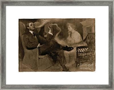 Sweet Magic Of Smoke 1903 Framed Print
