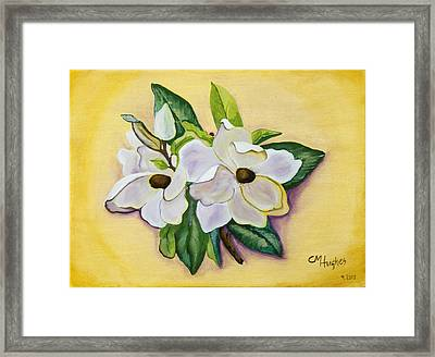 Sweet Magnolias Framed Print by Christie Nicklay