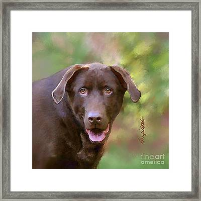 Sweet Molly Brown Framed Print by Bon Fillpot
