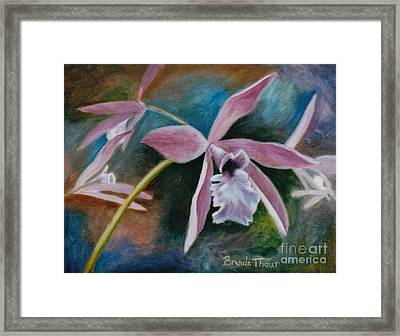 Framed Print featuring the painting Sweet Orchid by Brenda Thour