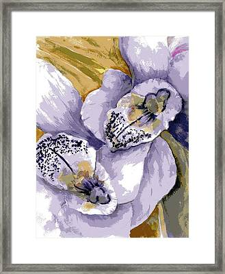 Sweet Orchids Framed Print by Marilyn Barton