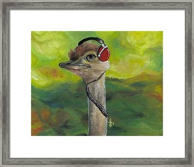 Sweet Pam The Jam Ostrich Framed Print