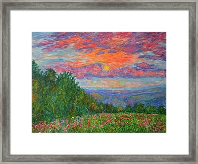 Sweet Pea Morning On The Blue Ridge Framed Print