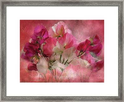 Sweet Peas Framed Print by Carol Cavalaris