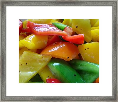 Framed Print featuring the digital art Sweet Peppers by Jana Russon