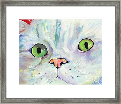 Sweet Puss Framed Print by Pat Saunders-White