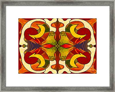 Sweet Sensations Abstract Art By Omashte Framed Print by Omaste Witkowski