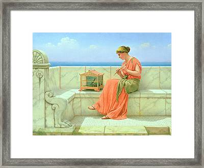 Sweet Sounds Framed Print by John William Godward