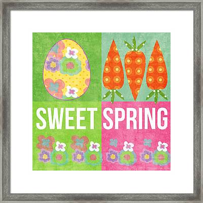 Sweet Spring Framed Print by Linda Woods