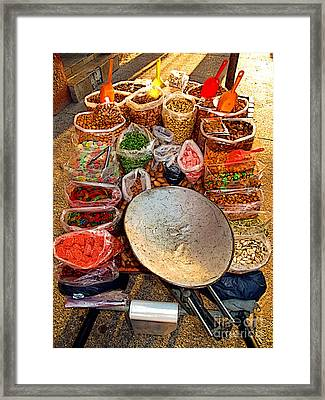 Sweet Street Cart Framed Print by Mexicolors Art Photography