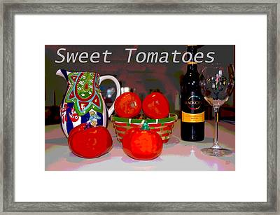 Sweet Tomatoes Framed Print