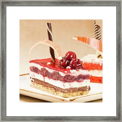 Sweet Treats. Cherry Cake Framed Print by Ekaterina Molchanova