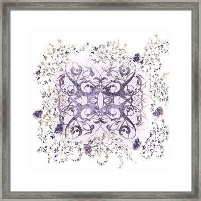 Sweet Violet Minimalist Art Framed Print